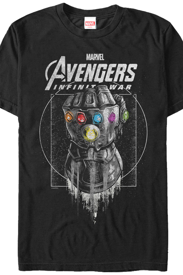 Avengers: Infinity War -Part 1 T-Shirt Thano's Gauntlet Men'S T-Shirt Black klGzxFE7