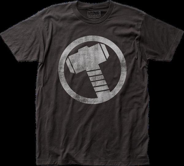 hammer icon thor t shirt marvel comics