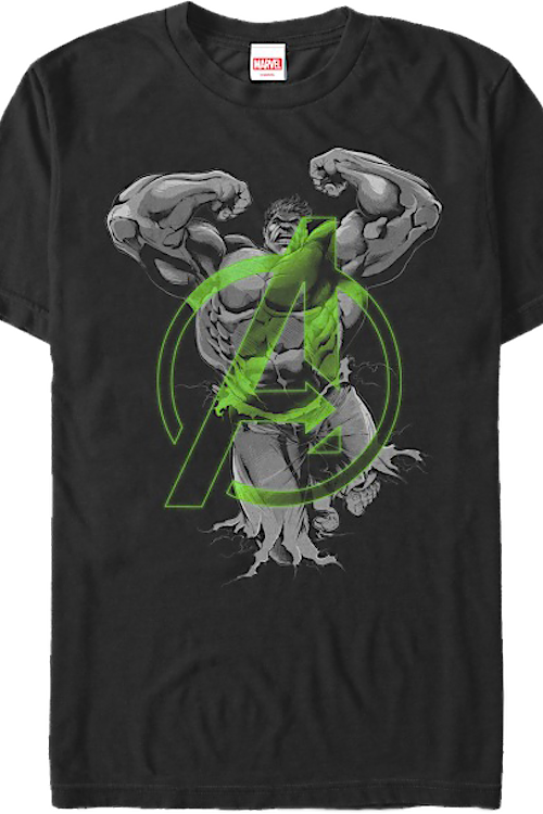 Green Avengers Logo Incredible Hulk T-Shirt