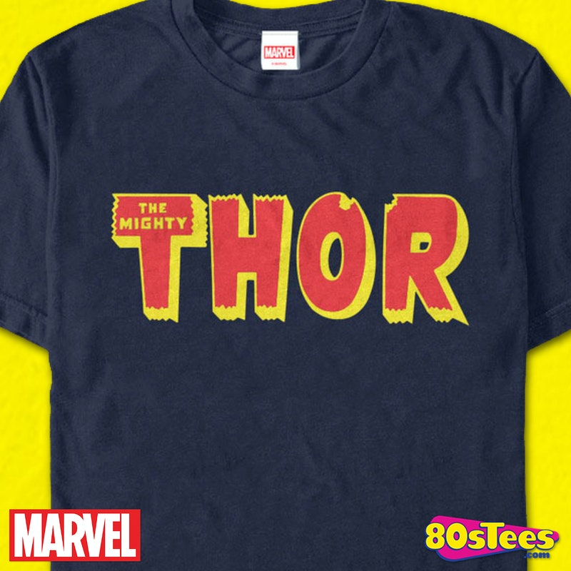 Thor Logo Marvel Comics T Shirt Mens