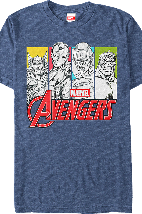 Pop Art Marvel Avengers T-Shirt