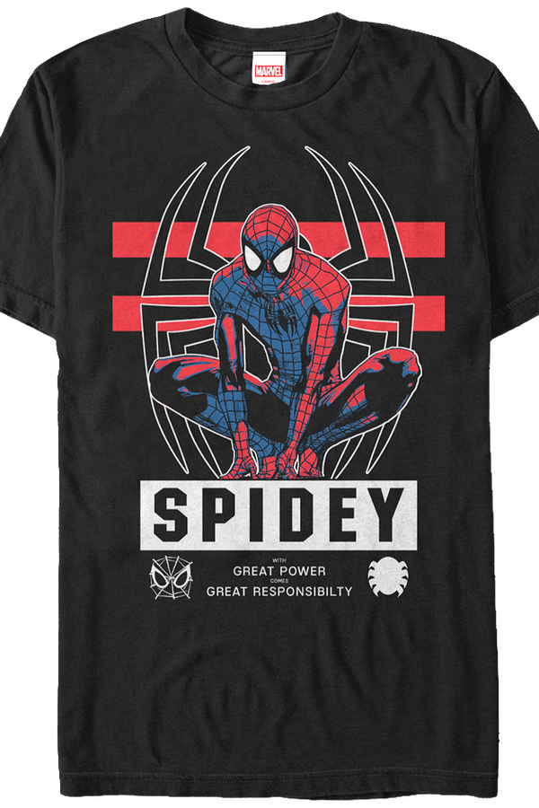 Great Responsibility Spider-Man T-Shirt