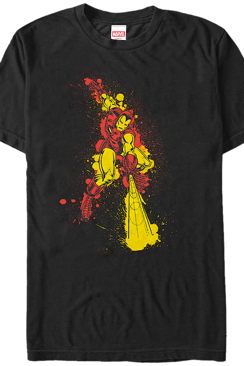 Paint Splatter Iron Man T-Shirt
