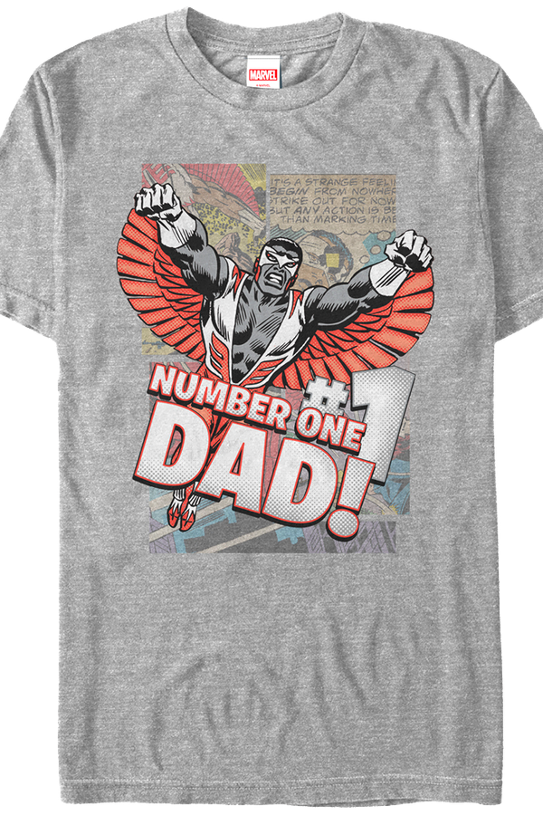 Falcon Number One Dad Marvel Comics T-Shirt