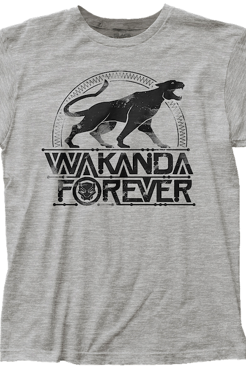 Distressed Wakanda Forever Black Panther T-Shirt