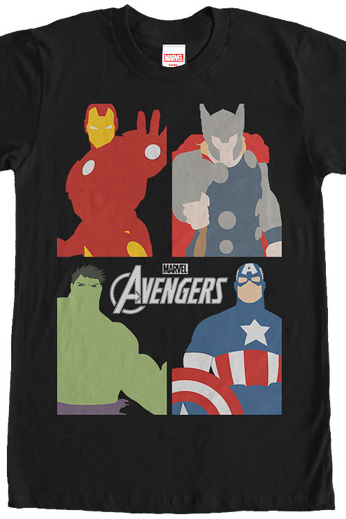 Avengers Portraits Marvel Comics T-Shirt