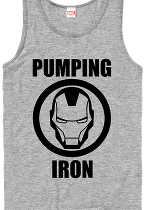 Pumping Iron Marvel Comics Iron Man Tank Top