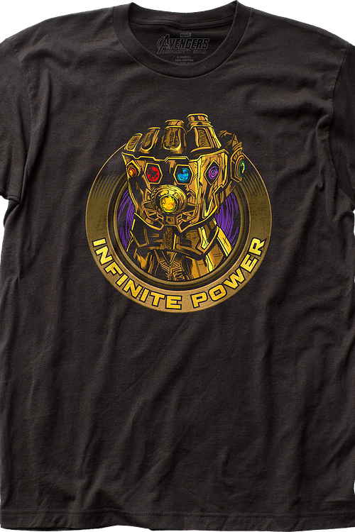 Infinite Power Avengers Infinity War T-Shirt