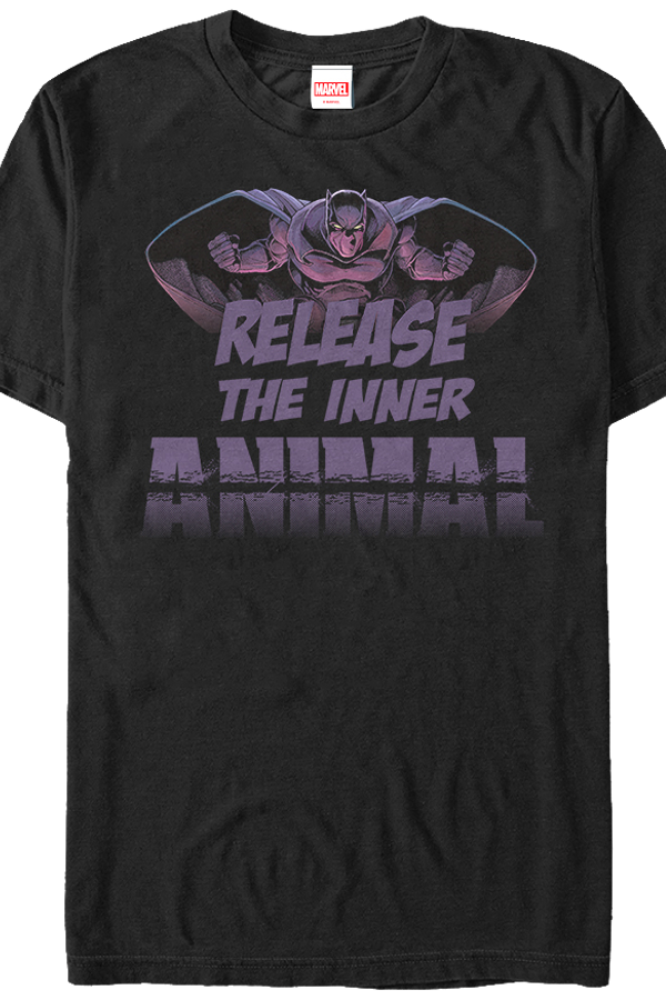 Release The Inner Animal Black Panther T-Shirt