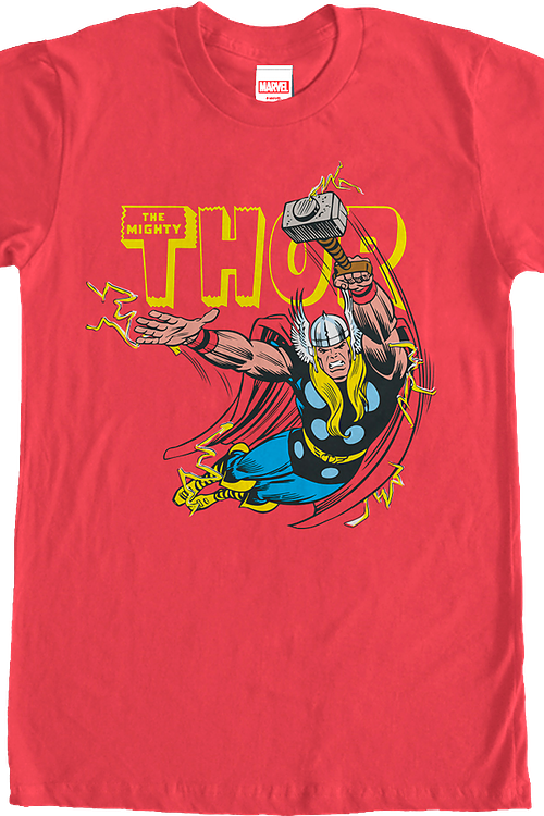 Flying God of Thunder Thor T-Shirt