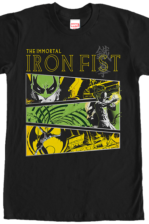 Marvel Comics Collage Iron Fist T-Shirt