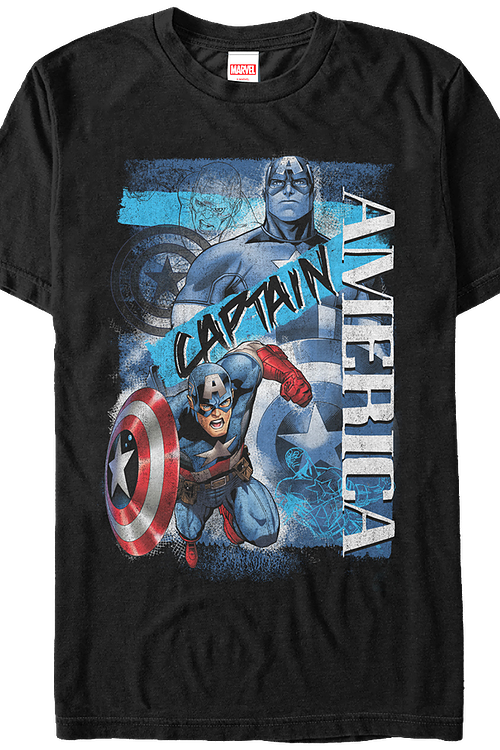 Collage Captain America T-Shirt