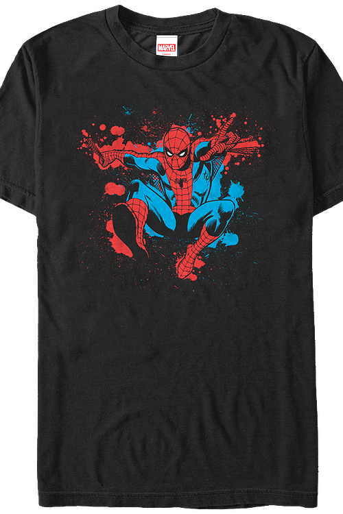 Paint Splatter Spider-Man T-Shirt