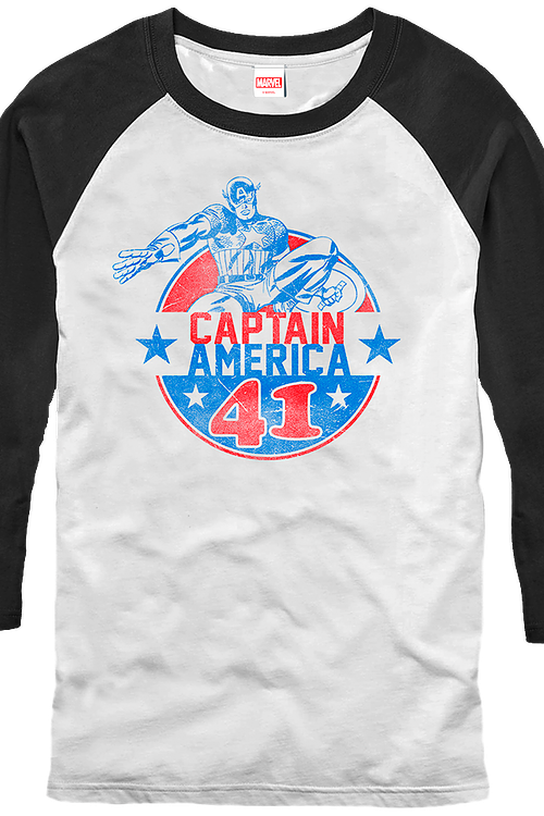Captain America Raglan Baseball Shirt