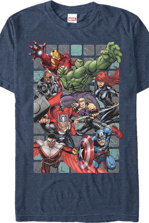 Avengers Assembling Marvel Comics T-Shirt