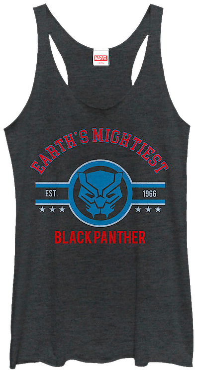 Ladies Earth's Mightiest Black Panther Tank Top