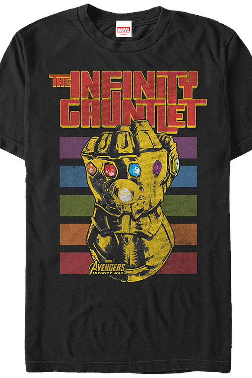 Retro Infinity Gauntlet Marvel Comics T-Shirt