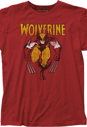 Distressed Wolverine T-Shirt Marvel Comics 3995541aa2e