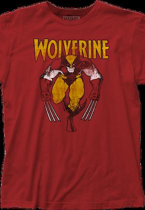 Distressed Wolverine T-Shirt Marvel Comics ce585ea7113