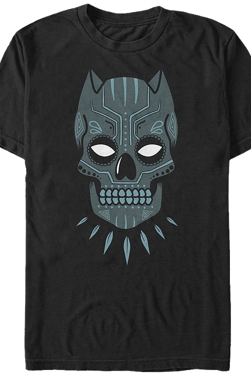 Sugar Skull Black Panther T-Shirt