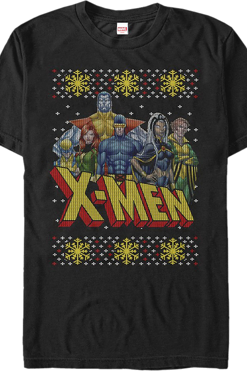 Faux Ugly Christmas Sweater X-Men T-Shirt