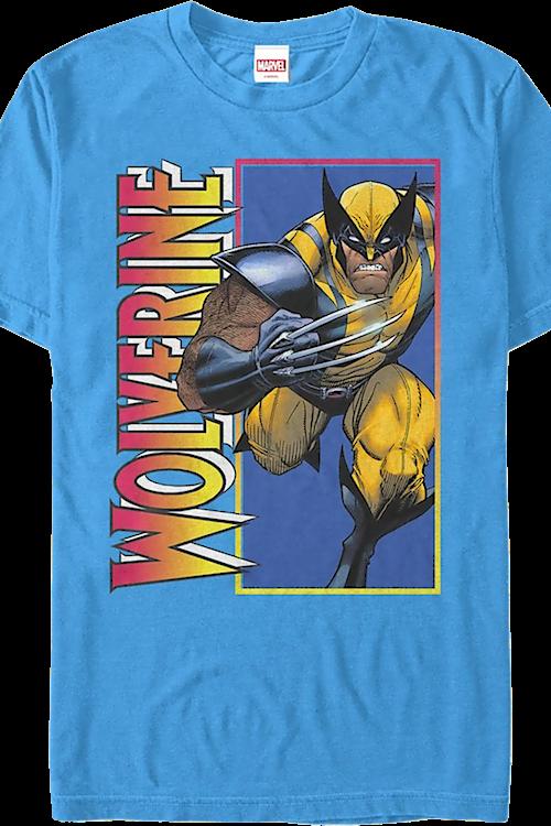 2071839498 Tiger Stripe Wolverine T-Shirt: Marvel Comics Mens T-Shirt