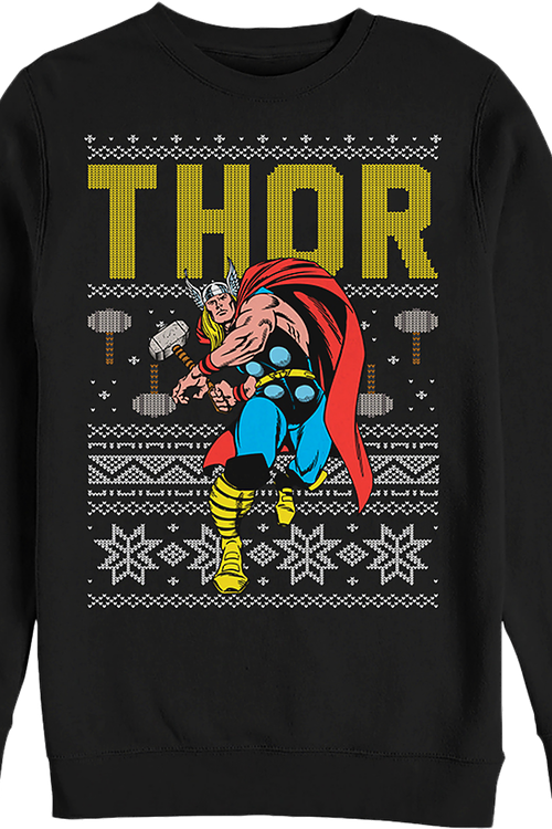 Marvel Comics Faux Ugly Thor Christmas Sweater