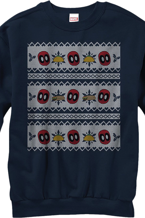 Marvel Comics Faux Ugly Deadpool Christmas Sweater