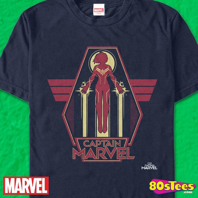 666a17931f9 Silhouette Captain Marvel T-Shirt  Captain Marvel Mens T-Shirt