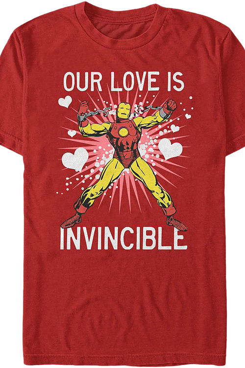 Our Love Is Invincible Iron Man T-Shirt