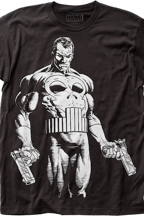 Black and White Punisher T-Shirt