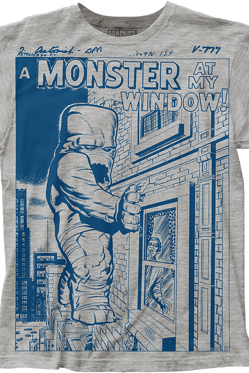 A Monster At My Window Marvel Comics T-Shirt