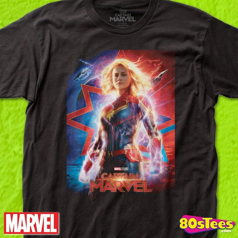 ba755728 Movie Poster Captain Marvel T-Shirt