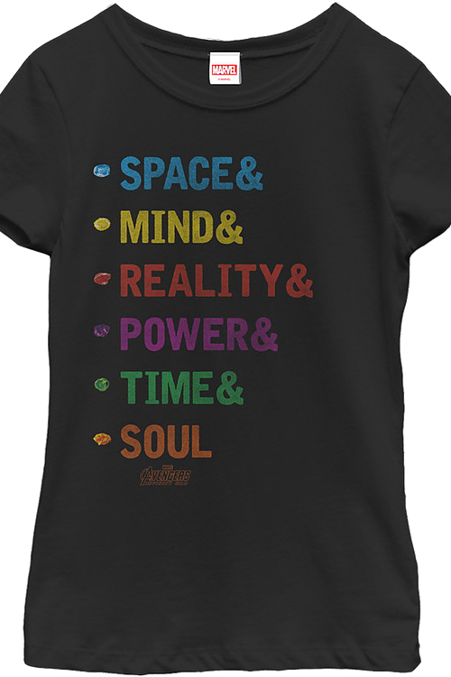 Girls Infinity Stones Marvel Comics Shirt