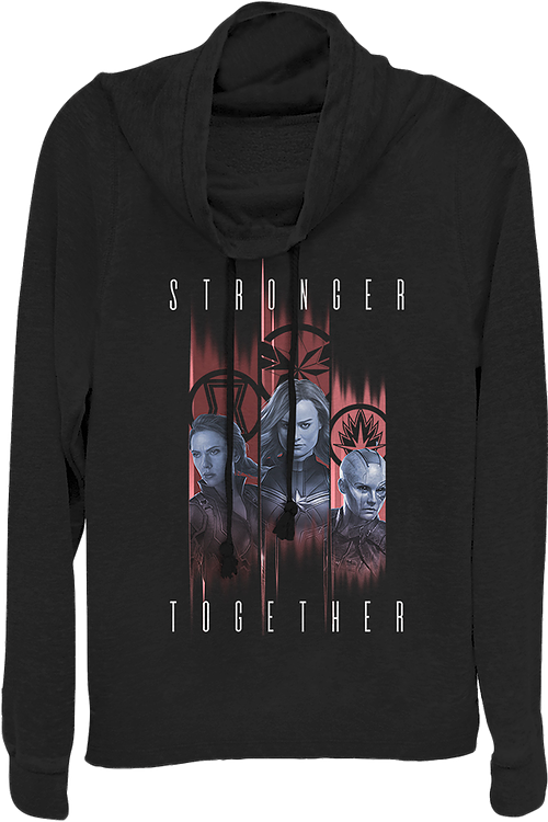 Ladies Stronger Together Avengers Endgame Cowl Neck Sweatshirt