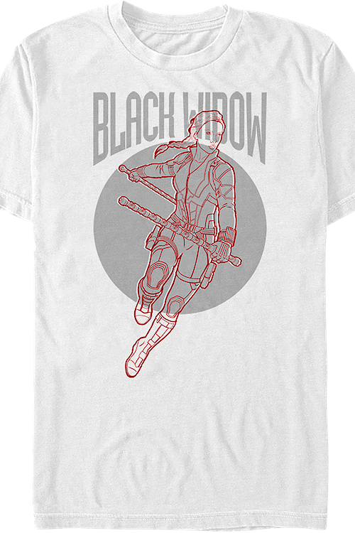 Black Widow Sketch Avengers Endgame T-Shirt