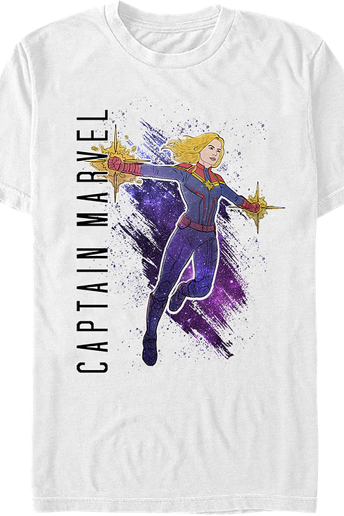 Captain Marvel Painting Avengers Endgame T-Shirt