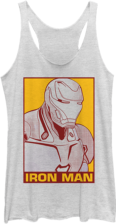 Ladies Iron Man Pop Art Avengers Endgame Racerback Tank Top