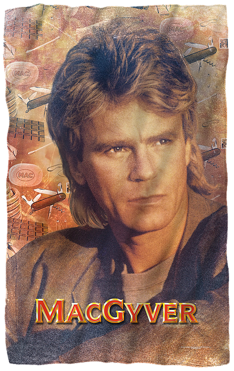 MacGyver 36 x 58 Fleece Blanket
