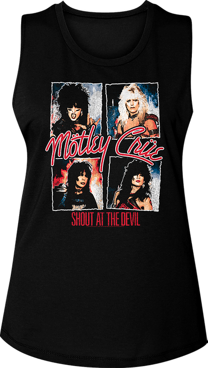 Ladies Shout At The Devil Motley Crue Muscle Tank Top