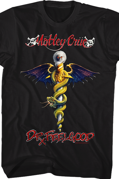 Dr. Feelgood Album Cover Motley Crue T-Shirt