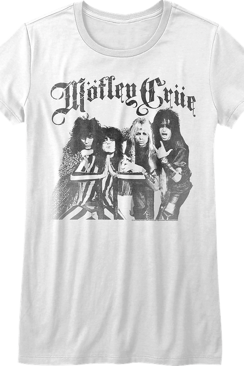 Ladies Black and White Motley Crue Shirt
