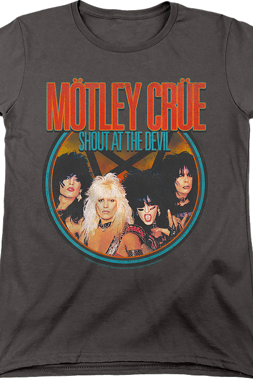 Womens Shout At The Devil Group Photo Motley Crue Shirt
