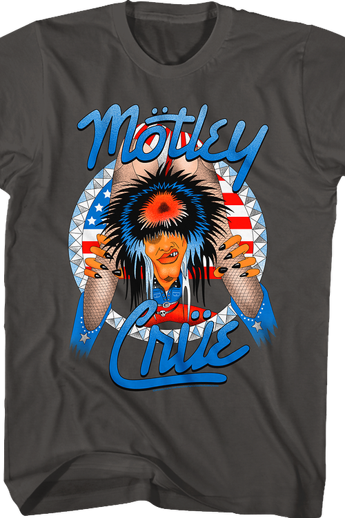 Red White and Crue Allister Fiend Motley Crue T-Shirt