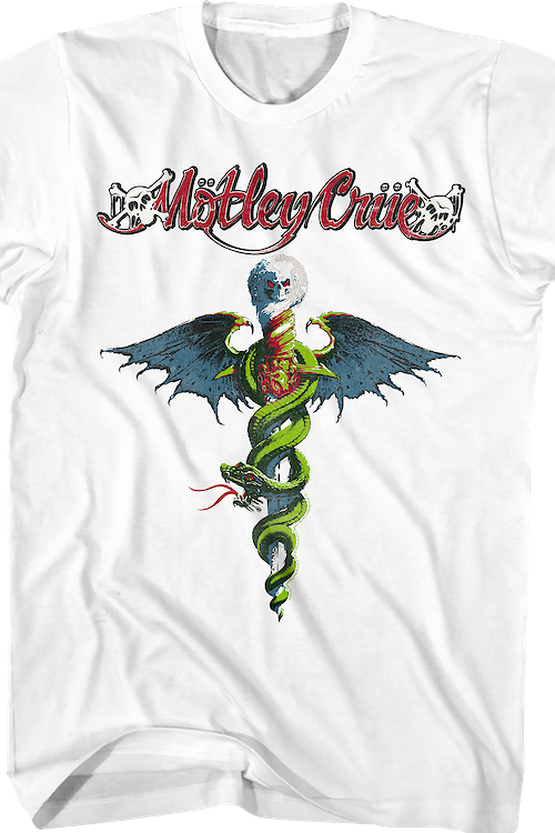 White Dr. Feelgood Motley Crue T-Shirt