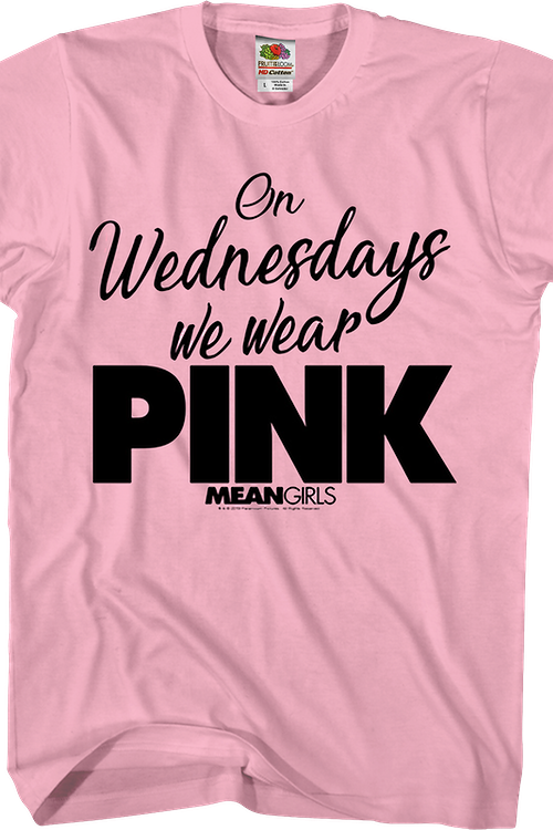 Mean Girls On Wednesdays We Wear Pink T-Shirt