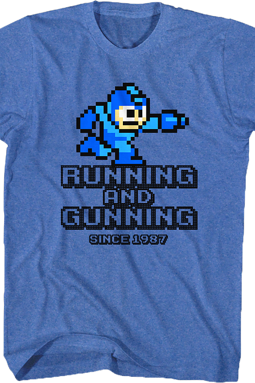 Running And Gunning Mega Man T-Shirt