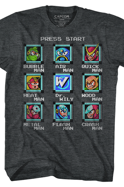 Start Screen Mega Man T-Shirt