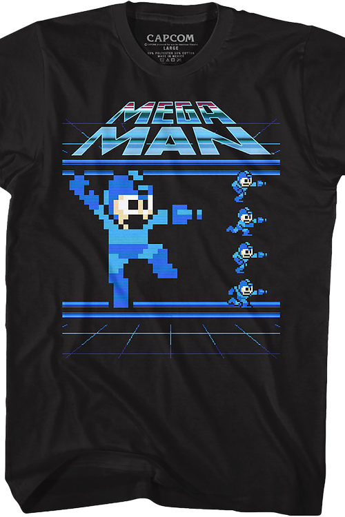 Jumping and Running Mega Man T-Shirt