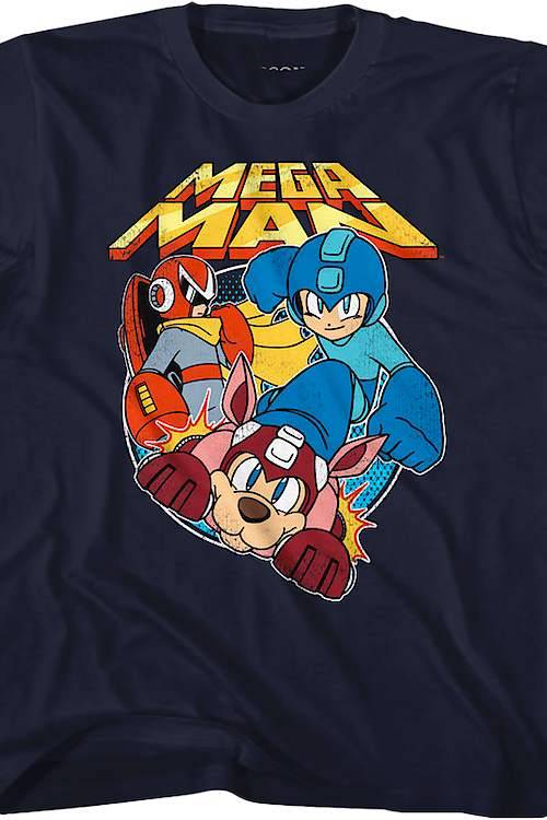 Youth Proto Man Rush and Mega Man Shirt